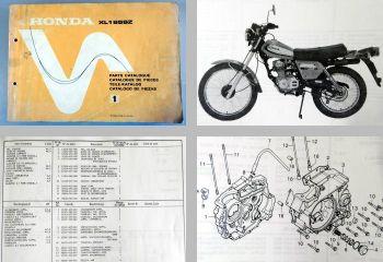 Ersatzteilkatalog Honda XL185SZ Parts List Ersatzteilliste 1978