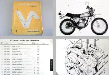 Honda SL125K1 Parts List Ersatzteilliste 1973
