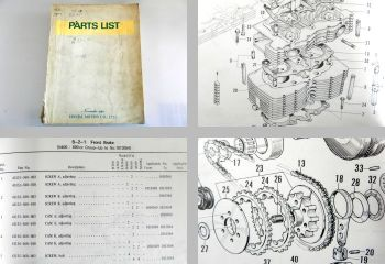 Honda 360 400 600 Sedan Van Parts List 1969