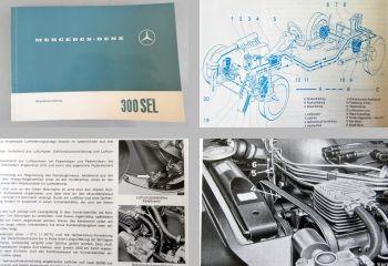 Mercedes Benz 300SEL W109 Betriebsanleitung 1966