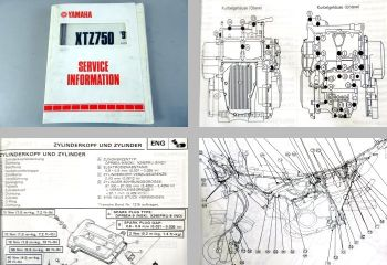 Yamaha XTZ750 3LD 1989 - 1991 Service Information und Schaltplan