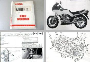 Yamaha XJ900 1983/1984 + XJ900F 1985/1991 Service Information Schaltplan 42N
