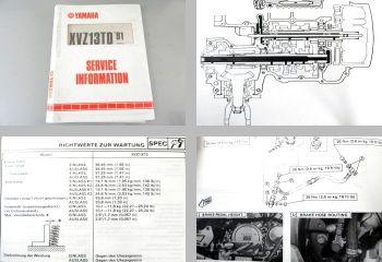 Yamaha XVZ13TD 3JS Modell 1991 Service Information Schaltplan