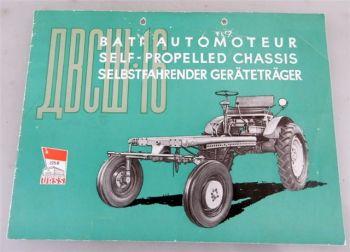 DVSs-16 selbstfahrender Geräteträger UDSSR Prospekt 1958