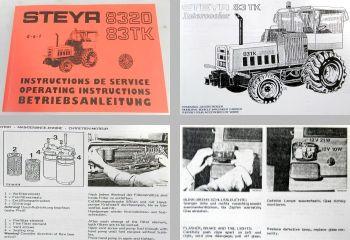 Steyr 8320 8320a 83TK Traktor Betriebsanleitung