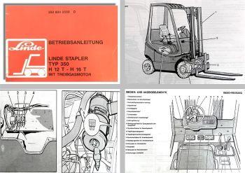 Linde H12T H16T Typ 350 Gabelstapler Betriebsanleitung