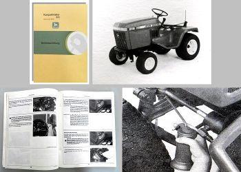 John Deere 318 Betriebsanleitung Bedienung Wartung Kompakttraktor
