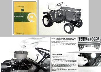 John Deere 332 Betriebsanleitung Bedienung Wartung Kompakttraktor