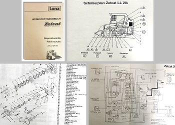 Werkstatthandbuch Lanz Zetcat LL 20 LL20.2 Radlader Reparaturhilfe Fehlersuche