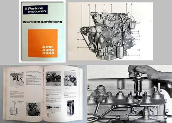 Reparaturhandbuch Perkins 4.212 4.236 4.248 Motoren Werkstatthandbuch