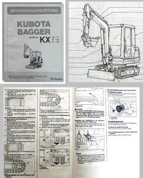 Kubota KX 36 KX41 KX61 KX71 KX101 KX151 Bagger Betriebsanleitung