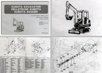 Kubota KX151 Bagger Stückliste Ersatzteilliste Ersatzteilkatalog Parts List
