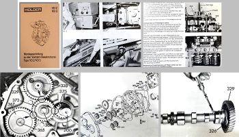 Holder A30 AG35 A45 A55 Motor VD2 & VD3 Werkstatthandbuch Montageanleitung
