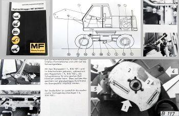 Bedienungsanweisung Massey Ferguson MF W250C Hanomag M5 Bagger Betriebsanleitung