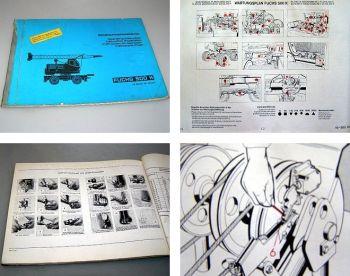 Fuchs 500K Mobilkran Bedienungsanleitung 1970 ab Gerät 30457