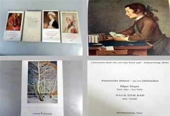 Jahresweiser durch alte und neue Kunst, 4 Kalender 1959/60/63/64