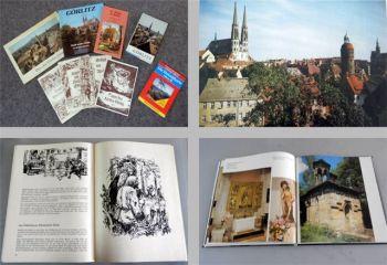 Görlitz Oberlausitz Posten 8 Bücher + Freizeitkarte