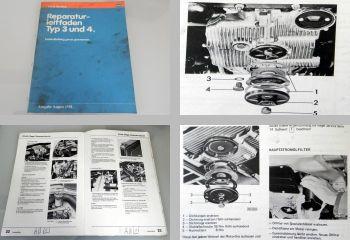 VW 1500, 1600, 411, 412 Typ 3 / 4 ab 1968 Instandhaltung Werkstatthandbuch 1981