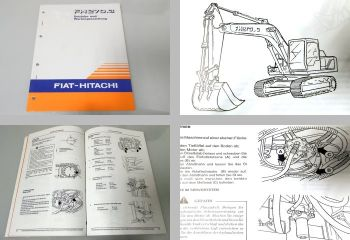 Fiat-Hitachi FH270.3 Raupenbagger Betriebsanleitung + Wartung 1995