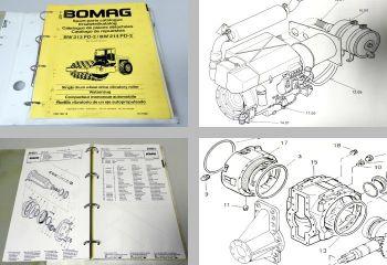 Bomag BW213PD-2 BW214PD-2 Walze Ersatzteilliste 1996