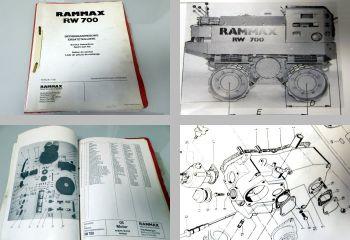 Rammax RW700 Betriebsanleitung Ersatzteilliste Walze + Ferymann Motor 1985