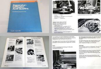 Reparaturleitfaden Audi quattro Urquattro Instandhaltung genau genommen 1981
