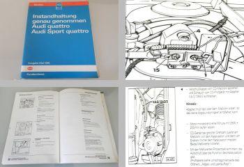Reparaturleitfaden Audi quattro, Sport quattro Instandhaltung Werkstatthandbuch