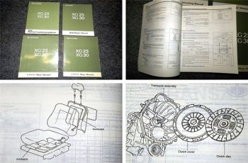 Hyundai XG25 XG30 ab 1999 Repair / Shop Manual 4 books Volume 1-