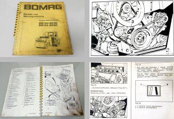 Bomag BW144 / 154 AD/AC Walze Betriebsanleitung Wartung 1987