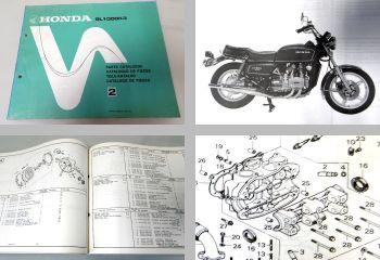 Teilekatalog Parts List Honda GL1000 K3 Goldwing Ersatzteilliste 1978