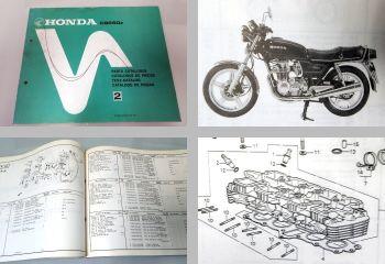 Ersatzteilkatalog Honda CB650z Parts Catalogue Ersatzteilliste 1979