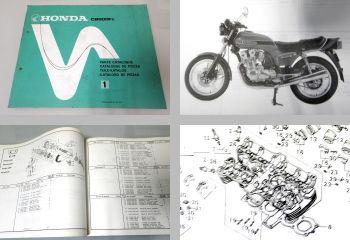 Ersatzteilkatalog Honda CB900 Fz Parts Catalogue Teilekatalog 1978