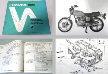 Ersatzteilkatalog Honda CB400A Hondamatic Parts Catalogue Ersatz