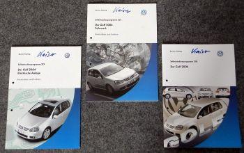 SSP 318 319 321 VW Golf V 2004, 3 Hefte Fahrwerk Elektrik Konstruktion Funktion