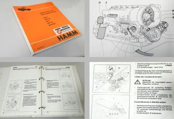 Hamm 4010/D 4011/D 4012DS Betriebsanleitung Wartung 1993