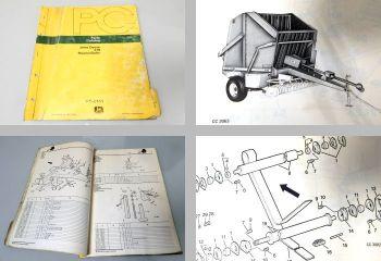 John Deere 510 Rundballenpresse Ersatzteilliste Parts Catalog 1977