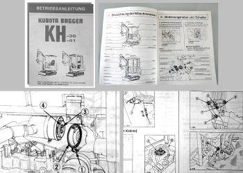 Betriebsanleitung Kubota KH-36 KH-41 Bagger Bedienung Wartung Einstellungen