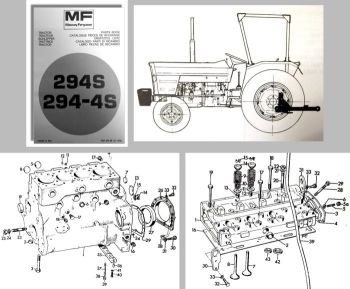Ersatzteilliste Massey Ferguson MF 294S 294-4S Traktor Ersatzteilkatalog