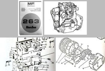 Ersatzteilliste Massey Ferguson MF 263 turbo Traktor Ersatzteilkatalog