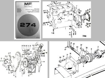 Ersatzteilliste Massey Ferguson MF 274 Traktor Ersatzteilkatalog