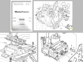 Ersatzteilliste Massey Ferguson MF 595 Traktor Ersatzteilkatalog