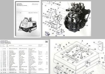 Ersatzteilliste Hako Jonas 1100D (6411) Kehrmaschine
