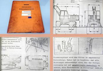 Betriebsanleitung Demag H21P Hydraulikbagger Bedienung