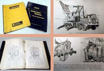 Lorain MC-330 Crane Operators Manual, Parts Catalog ca 1965/70