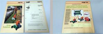 Agria 5200V Vertikutiergerät Prospekt technische Daten + Preisli