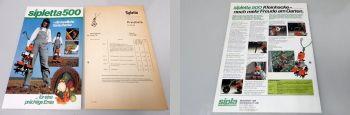 Sipletta 500 Motor-Kleinhacke Prospekt technische Daten + Preisl