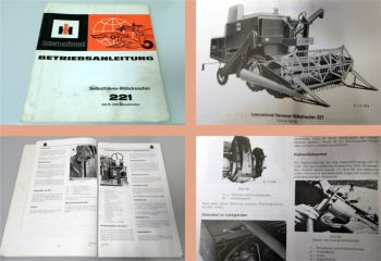 Betriebsanleitung IHC 221 Mähdrescher Bedienung Wartung Schaltpl