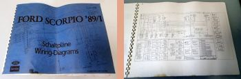 Werkstatthandbuch Ford Scorpio 89/I Schaltpläne Elektrik Stromlaufpläne