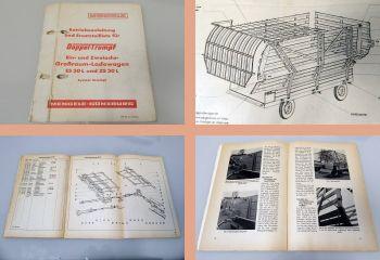 Mengele Doppeltrumpf ES30L ZS30L Betriebsanleitung & Ersatzteilliste 1964