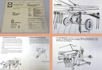Betriebsanleitung Fella TS280DN Turboschwader 1981